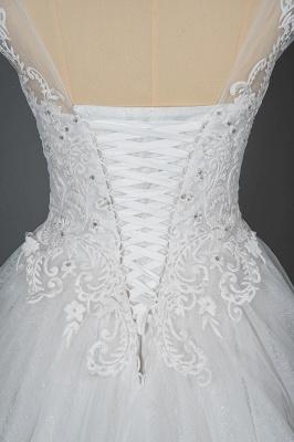 Schlichte Brautkleider Prinzessin   Hochzeitskleider mit Spitze_6