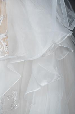 Designer Hochzeitskleider Mit Ärmel | Brautkleider A Linie Spitze_4