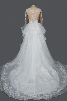Designer Hochzeitskleider Mit Ärmel | Brautkleider A Linie Spitze_15