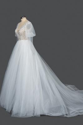 Fashion Brautkleider A Linie   Hochzeitskleider mit Ärmel_3