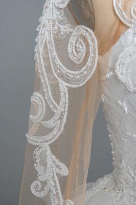 Designer Hochzeitskleider Mit Ärmel | Brautkleider A Linie Spitze_11