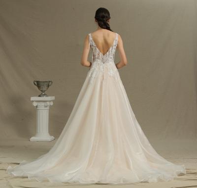 Schöne Hochzeitskleider A Linie | Brautkleider mit Spitze_4