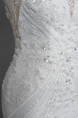 Elegante Brautkleider Meerjungfrau | Spitze Hochzeitskleider Günstig_9