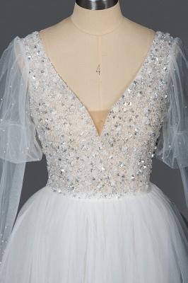 Fashion Brautkleider A Linie   Hochzeitskleider mit Ärmel_7