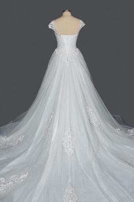 Schlichte Brautkleider Prinzessin   Hochzeitskleider mit Spitze_2