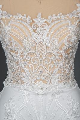 Schöne Hochzeitskleider A Linie Spitze | Brautkleider Online Kaufen_8