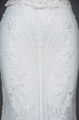 Schöne Hochzeitskleider A Linie Spitze | Brautkleider Online Kaufen_6