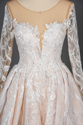 Extravagante Brautkleider Mit Ärmel | Prinzessin Hochzeitskleider Spitze_6