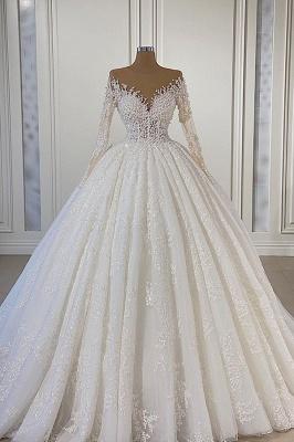 Schöne Hochzeitskleider Extravagant   Brautkleider A Linie Mit Ärmel_1