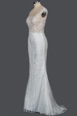 Schöne Hochzeitskleider A Linie Spitze | Brautkleider Online Kaufen_10