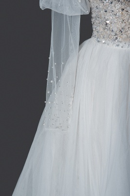 Fashion Brautkleider A Linie   Hochzeitskleider mit Ärmel_5