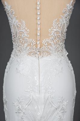 Schöne Hochzeitskleider A Linie Spitze | Brautkleider Online Kaufen_9