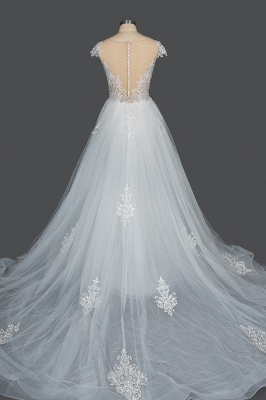 Schöne Hochzeitskleider A Linie Spitze | Brautkleider Online Kaufen_2