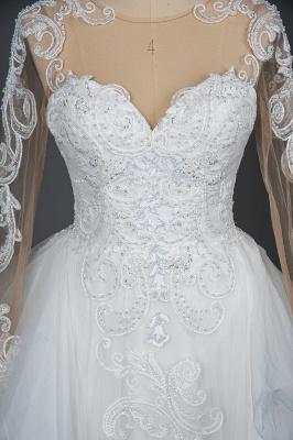 Designer Hochzeitskleider Mit Ärmel | Brautkleider A Linie Spitze_13