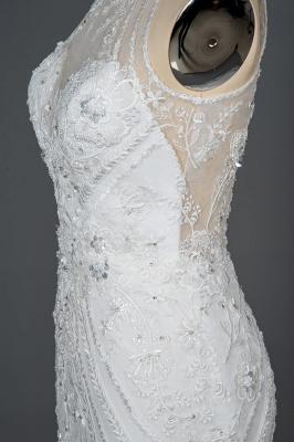 Elegante Brautkleider Meerjungfrau | Spitze Hochzeitskleider Günstig_5