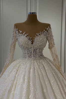 Schöne Hochzeitskleider Extravagant | Brautkleider A Linie Mit Ärmel_2