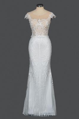 Schöne Hochzeitskleider A Linie Spitze | Brautkleider Online Kaufen_12