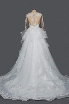 Designer Hochzeitskleider Mit Ärmel | Brautkleider A Linie Spitze_2