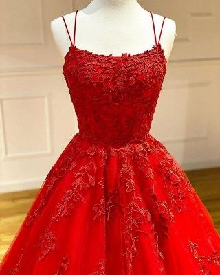 Rote Abendkleider Lang Günstig | Spitze Abiballkleider Online_2