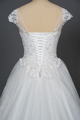 Schlichte Brautkleider Prinzessin   Hochzeitskleider mit Spitze_4