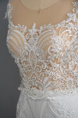 Schöne Hochzeitskleider A Linie Spitze | Brautkleider Online Kaufen_7