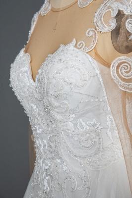 Designer Hochzeitskleider Mit Ärmel | Brautkleider A Linie Spitze_6
