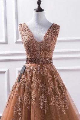 Elegante Abendkleider Lang Günstig | Abiballkleider mit Spitze_3