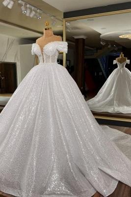 Elegante Hochzeitskleider Prinzessin Glitzer | Brautkleider Brautmoden_1