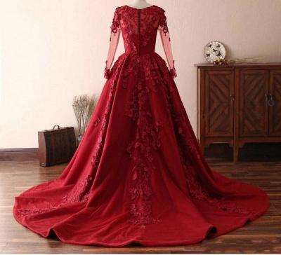 Schöne Abendkleider Mit Ärmel | Rote Abiballkleider Spitze_2
