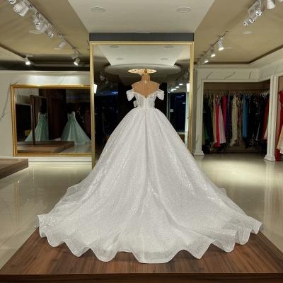 Elegante Hochzeitskleider Prinzessin Glitzer | Brautkleider Brautmoden_2