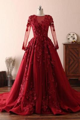 Schöne Abendkleider Mit Ärmel | Rote Abiballkleider Spitze