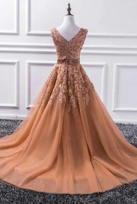 Elegante Abendkleider Lang Günstig | Abiballkleider mit Spitze_2