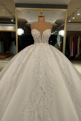 Luxus Hochzeitskleider Glitzer Prinzessin | Brautkleider Günstig Online