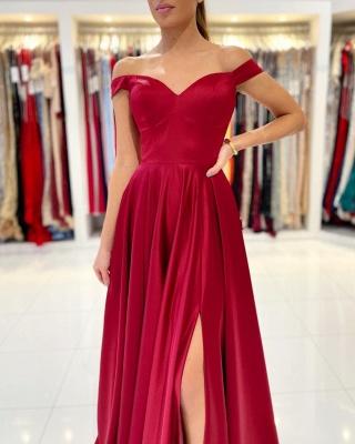 Rotes Abendkleid Lang Günstig   Schlichte Abiballkleider_3