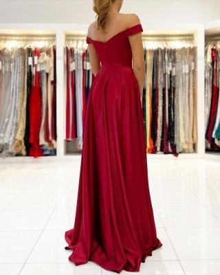 Rotes Abendkleid Lang Günstig   Schlichte Abiballkleider_2