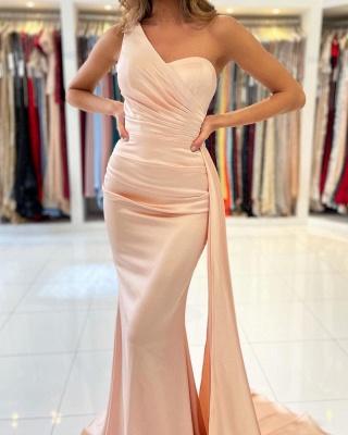 Schlichte Abendkleider Lang Günstig | Peach Abiballkleider Online_3