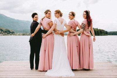 Wandelbare Brautjungfernkleider Rosa   Kleider für Brautjungfern_2