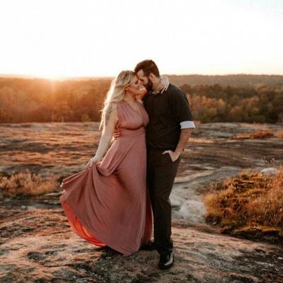 Weinrot Wandelbare Brautjungfernkleider | Kleider für Brautjungfern Günstig_3