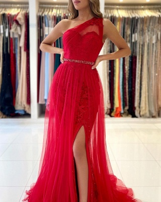 Rote Abendkleider Lang Spitze | Abiballkleider Günstig Online_4