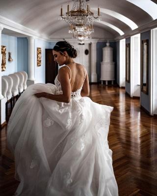 Schöne Hochzeitskleider A Linie   Brautkleider mit Spitze_2