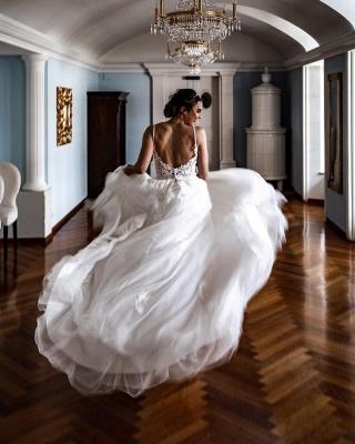 Schöne Hochzeitskleider A Linie   Brautkleider mit Spitze_3