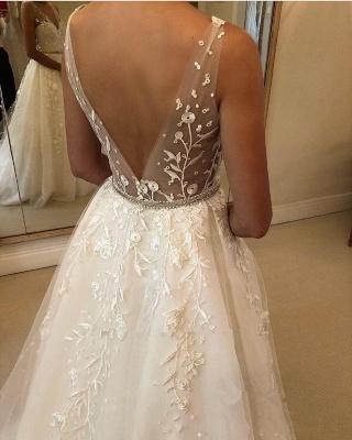 Designer Brautkleider A Linie Spitze | Hochzeitskleider Günstig Online_4