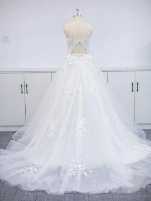 Wunderschöne Brautkleider A Linie Spitze   Hochzeitskleider Online Günstig_4