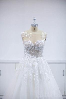Wunderschöne Brautkleider A Linie Spitze   Hochzeitskleider Online Günstig_6