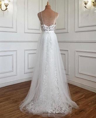 Weiße Abendkleider mit Spitze | Abiballkleider Günstig Online_2