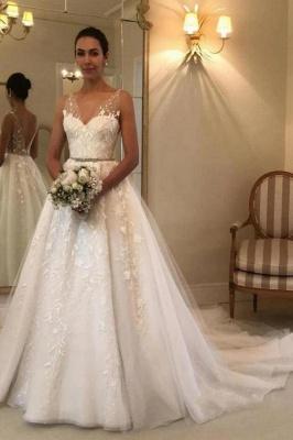 Designer Brautkleider A Linie Spitze | Hochzeitskleider Günstig Online_2