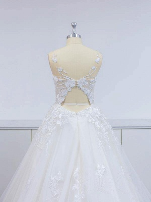 Wunderschöne Brautkleider A Linie Spitze   Hochzeitskleider Online Günstig_5