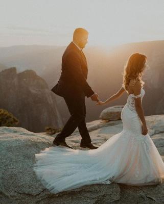 Schöne Brautkleider Meerjungfrau Spitze | Hochzeitskleider Online Kaufen_2