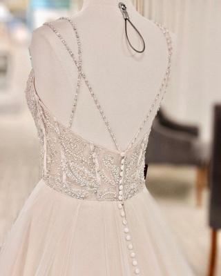 Luxus Brautkleider A Linie | Hochzeitskleider mit Glitzer_3