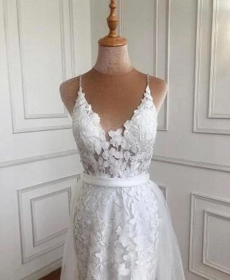 Weiße Abendkleider mit Spitze | Abiballkleider Günstig Online_3